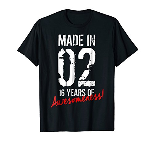 16 Year Old Birthday Gift Shirt Born in 2002 16th Birthday by Cool Birthday Shirts For Boys & Girls Co. (Image #2)