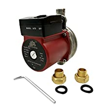 BOKYWOX 110V Automatic Circulating Pump 3/4''120W Hot Water Circulation Pump (stainless steel red)