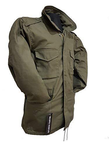 estilo Verde Ejército EEUU Oliva Milspec Campaña Vintage de M65 Chaqueta militar Surplus wxqRqvI87