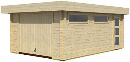 Lasita Maja Canberra 44 - Garaje de madera con portería: Amazon.es: Jardín