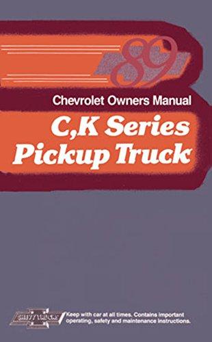 bishko automotive literature 1989 Chevrolet C K Truck Blazer Owners Manual User Guide Reference Operator Book