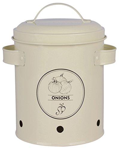 Esschert Design C2069 Onions Storage Tin, Metal