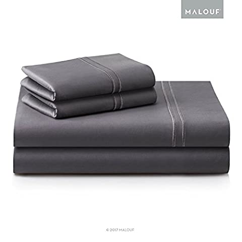 WOVEN SUPIMA Premium Cotton Sheets - 100 Percent American Grown - Extra Long Staple - Sateen Weave - Extra Deep Pockets - Single Ply - 600 Thread Count - Split King - - Sateen Single