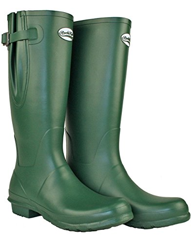 Rockfish Original Tall Adjustable Matte Wellington Boots Racing Green US - Fit Wellington U