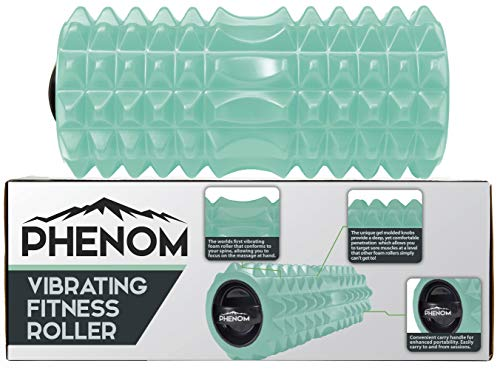 Monument Phenom - 3 Speed Vibrating Foam Roller - for Superior Myofascial Recovery | Release Tension, Stiff Sore Muscles; Enhance Mobility, Performance, and Pliability Training (Aquamarine)