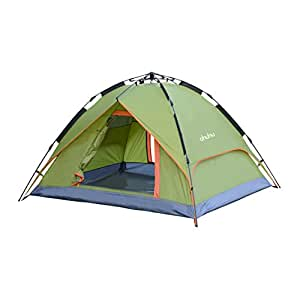 Ohuhu Instant Dome Tent | Easy Set Up, 3 Person Tent with Waterproofing and UV Protection for Camping, Festivals, Beach Goers- 1 Room, Green