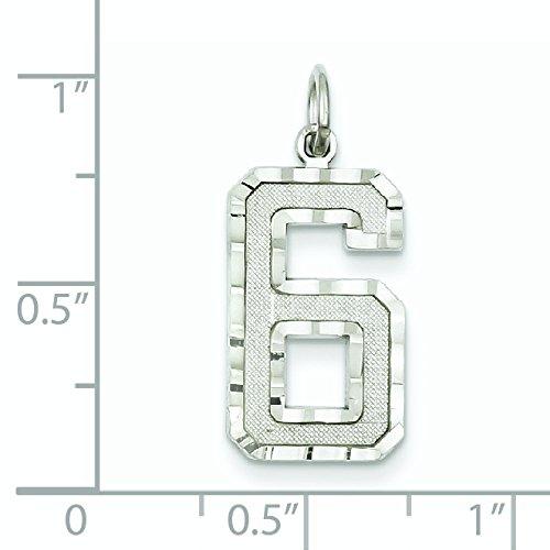 Moulées blanc 14 carats-Diamant-Taille de découpe Breloque JewelryWeb Numéro 6