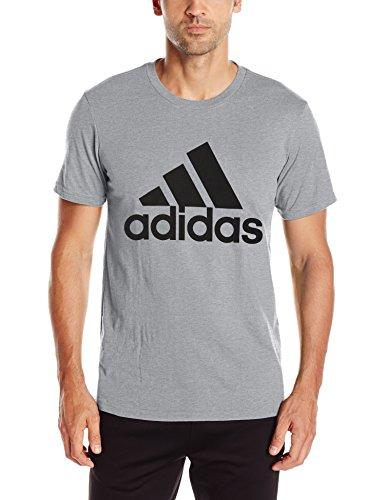 adidas Mens Badge of Sport Graphic Tee Collegiate Navy//White
