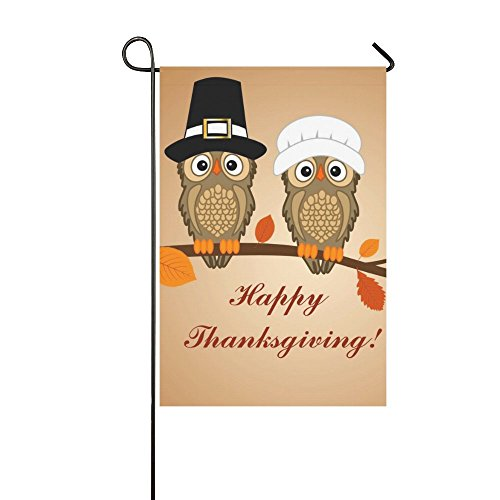 Custom Thanksgiving Day Owls Outdoor Summer Holiday Welcome