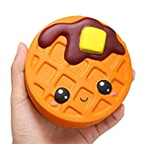 Bluelans Slow Rising Squishies Squeeze Toys,Squishy Chocolate Cake Waffle Scented Slow Rising Kids Adult Stress Relief Toys Xmas Gifts Christmas Party Favor Party Bag Stocking Fillers