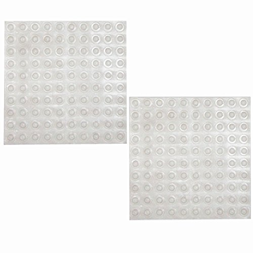 IBS Clear Rubber Feet Adhesive Sound Dampening Cabinet Door Bumpers Pads with 0.33x0.1in (Clear,200 - Paste Protectors Transparent Sheet