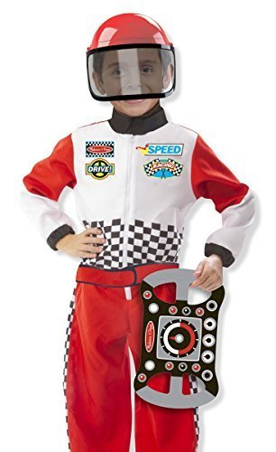 Melissa & Doug Race Car Driver Fancy Dress Up Costume for F1 Racing Driving Outfit by Partypackage