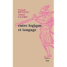 Entre Logique Et Langage