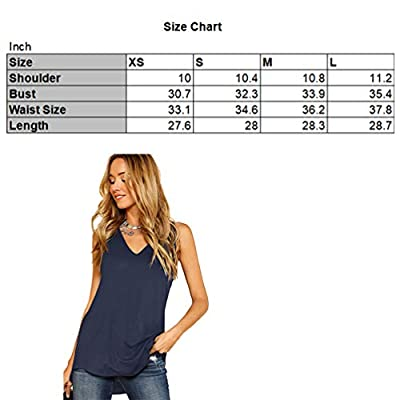 Verdusa Women's V Neck Longline Dolphin Hem Tank Top at Women's Clothing store