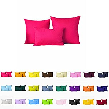 Decorative Pillows Cover/Cushion Case (18 x18 , Hot Pink)