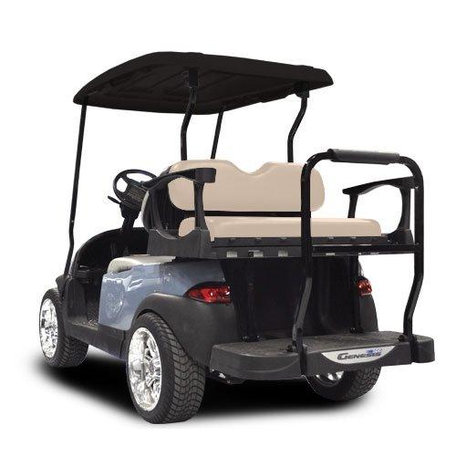 Madjax Club Car Precedent 2004-Up Rear Flip Seat Genesis 300 Aluminum with Standard Buff CushionsTHE Golf CART is NOT Included