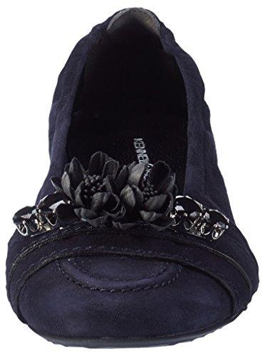 Kennel und Schmenger Schuhmanufaktur Malu - Bailarinas Mujer Blau (Ocean/Black)