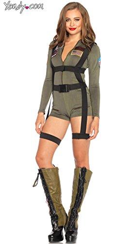 Leg Avenue Women's Top Gun Romper Costume -