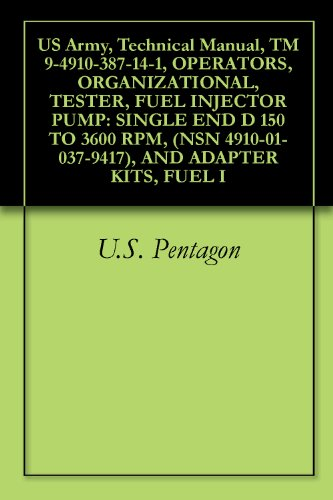 US Army, Technical Manual, TM 9-4910-387-14-1, OPERATORS, ORGANIZATIONAL, TESTER, FUEL INJECTOR PUMP: SINGLE END D 150 TO 3600 RPM, (NSN 4910-01-037-9417), AND ADAPTER KITS, FUEL I 3600 Pump