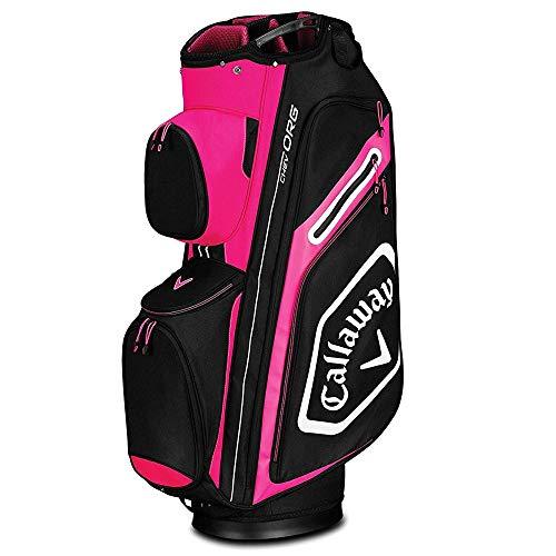 (Callaway Golf 2019 Chev Org Cart Bag, Pink/White/Black)