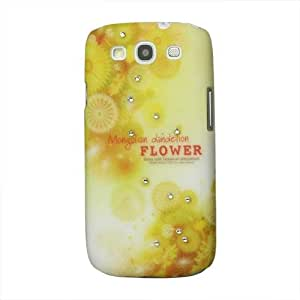 So'axess BCASGI9300-32 - Carcasa para Samsung I9300 Galaxy S III, diseño de flores y estrás