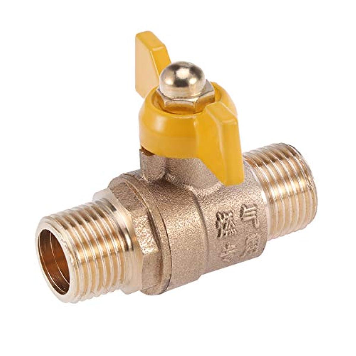 [해외] YARDWE 놋쇠 가스 볼 밸브 급탕기 볼 밸브 폐쇄 밸브 가든 호스 SHUT 오프 밸브 호스 Connector 더블 아우터 와이어 핸들
