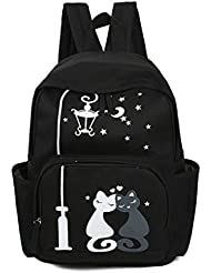 Nawoshow Cute Cat Backpack Cartoon Animal School Bag College Book Bag