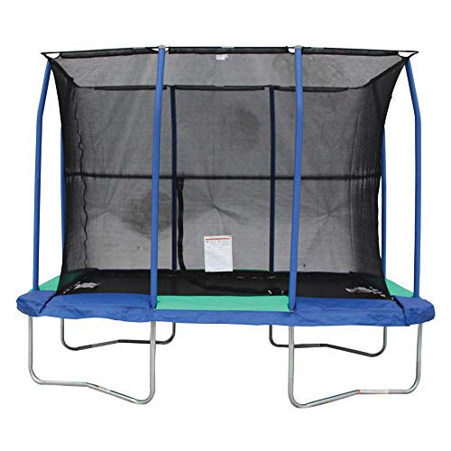 - JumpKing 7 x 10 Foot Rectangular Trampoline with Padded Enclosure