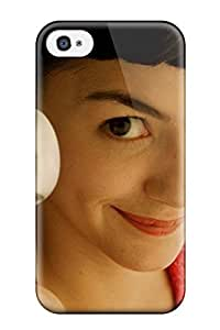 Durable Protector Case Cover With Audrey Tautou As Amelie Hot Design For Iphone 4/4s