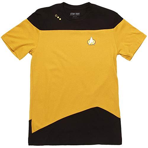 (Star Trek: The Next Generation Uniform Adult T-Shirt - Engineer Yellow (X-Small))