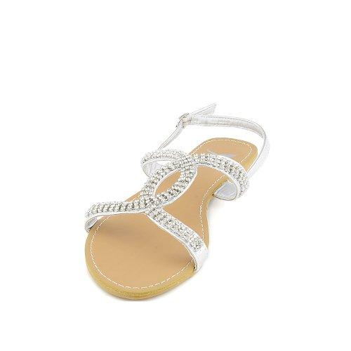 Shiekh Womens Explore-02 Sandal - SILVER Size 5.5