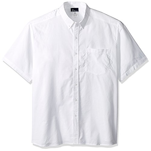 Classroom Men's Big and Tall Short Sleeve Oxford Shirt, White, (Mens Tall Oxford Shirts)
