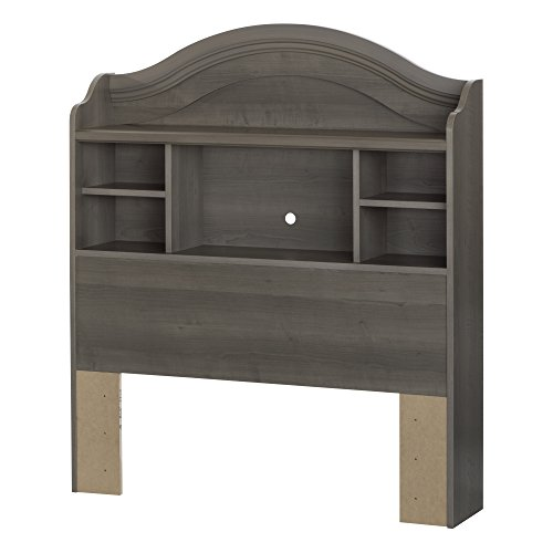 South Shore 10425 Savannah 39'' Bookcase Headboard, Twin, Gray Maple ()