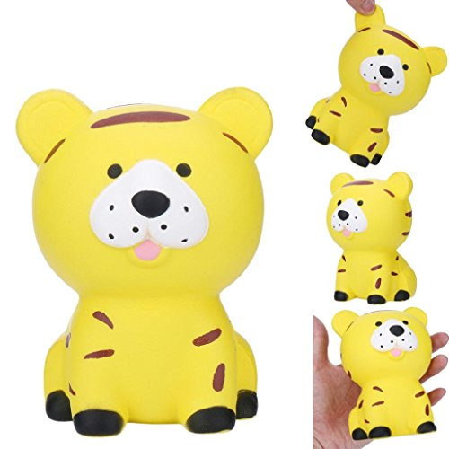 Bell Collection Jewelry John - Yeefant Stress Relief Squat Tiger Super Soft Slow Rising Relaxing Anti-Anxiety Squeeze Scented Collection Squeeze Stress Reliever Toy For Kids Adult,Yellow,3.5x4.7x3.2 Inch