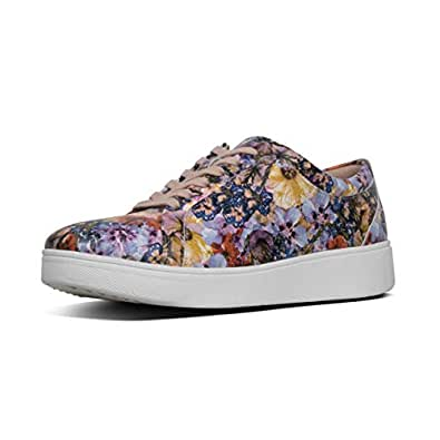 FITFLOP Rally Flowercrush Women's Casual Sneaker, Oyster Pink, 5 US