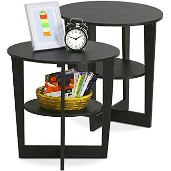 Amazon Com Simplistic End Table 2 Pieces With Storage