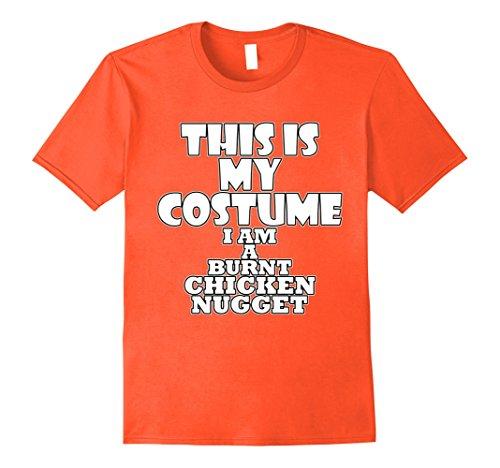 Mens Burnt Chicken Nugget Funny Halloween Costume Idea T-Shirt XL (Funny Male Halloween Costumes Idea)