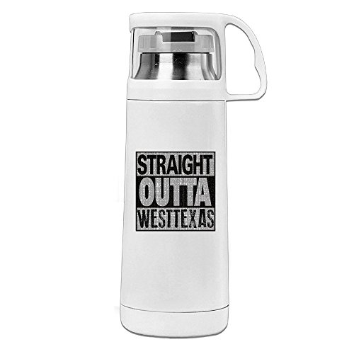 Straight Outta West Texas Stainless Steel Insulated With Lid Cup Thermos - Lens Buff