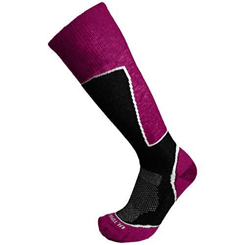 (Ultimate Socks Womens Midweight Merino Wool Ski Snowboard Warm Socks Raspberry Medium 7-9.5)