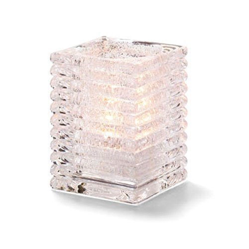 Hollowicks Block Clear Jewel Horizontal Rib Glass Lamp, 4 1/8 inch Height -- 1 each.