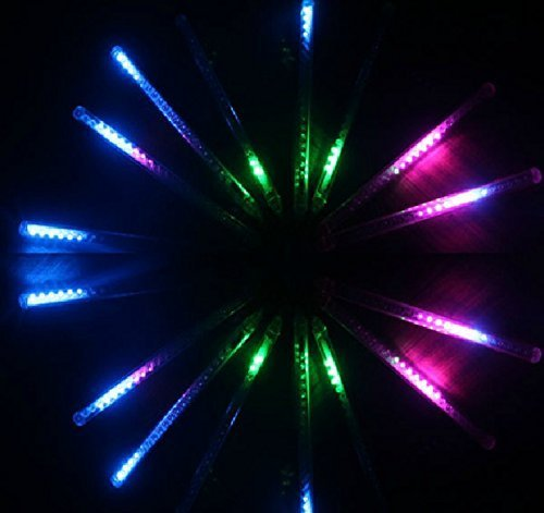 Hippih Led Christmas String Like Meteor Shower Rain 8 Tubes Waterproof String for Wedding Party Christmas Xmas Decoration (Multi-color)