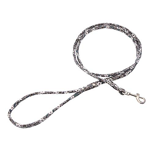 THAWxe Pet Traction Rope, Pet Dog Puppy Colorful Faux Leather Traction?Rope Walking Training Lead Leash - Floral Grey