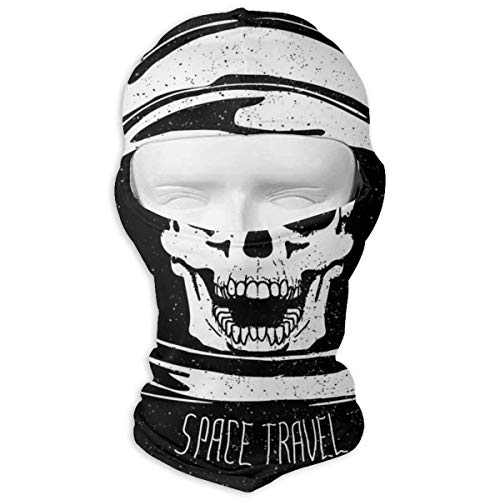 Space Skull Astronaut Helmet Headwear Balaclava for Men Women Windproof Ski Mask Full Face Mask Thermal Hood for Skiing Snowboarding Motorcycling Cold Weather Winter Sports -