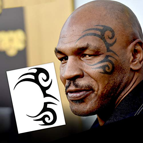 Mike Tyson Tribal Design Temporary Tattoos (2-Pack) | Skin Safe | MADE IN THE USA| Removable]()