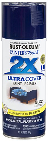 Rust-Oleum 249098-6 PK Painter's Touch 2X Ultra Cover, 12 oz, Navy Blue (Paint Gloss Spray)