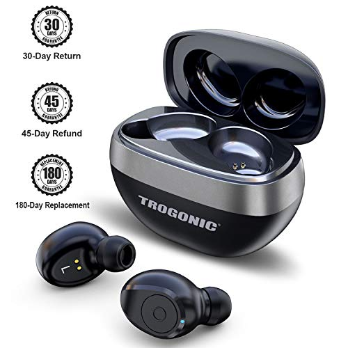 Wireless Earbuds, TROGONIC TE1 Bluetooth 5.0 IPX5 Wireless Bluetooth Earbuds with 35H Playtime, Deep Bass, Noise Cancelling with Built-in Silicon Mic, Bluetooth Headphones with Portable Charging Case