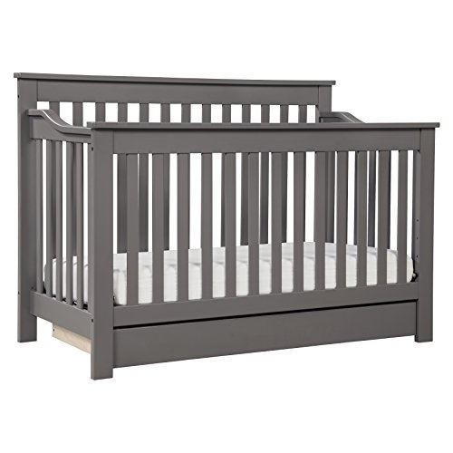 DaVinci Piedmont 4-in-1 Convertible Crib with Toddler Rail, Slate