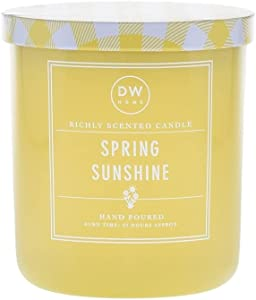 DW Home Hand Poured Richly Scented Spring Sunshine Medium Single Wick Candle