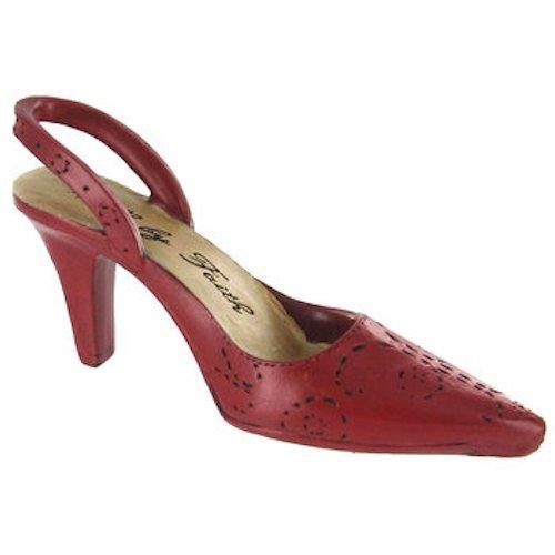 Coconut Grove Galleria Red Sling Back High Heel Shoe Walk By Faith Resin Figurine ()