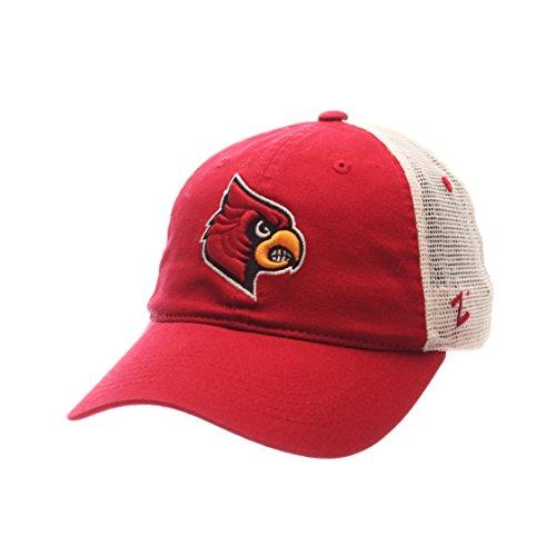 Zephyr NCAA Louisville Cardinals Adult Men University Relaxed Cap, Adjustable, Team Color/Stone